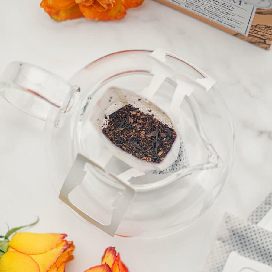 Drip tea - Chá preto com cascas de cacau em sachês - Orgânico