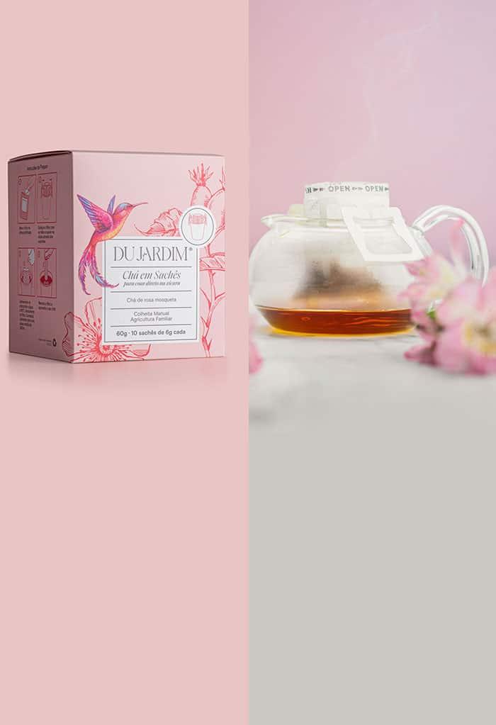 Drip Tea - Chá de rosa mosqueta em sachês